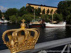 Bahía del Lago Mälaren en el centro de Estocolmo en Suecia