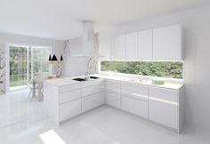 Modelo Line L Blanco Brillo | Encimera Silestone Blanco