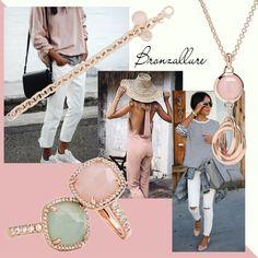 Bronzallure Jewellery Style Pastel Shades Inspiration #jewellery #bronzallure #rose #gold #gemstones