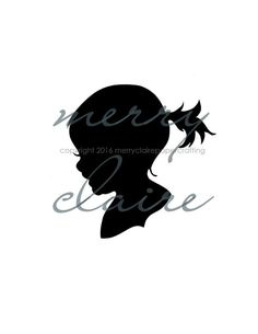 Grandma never wants to forget those curls and lashes...Hand cut silhouette, custom art made from a photograph.  Great Christmas gift for Grandma!