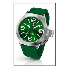 TW Steel Men's Canteen Colour Watch - Green