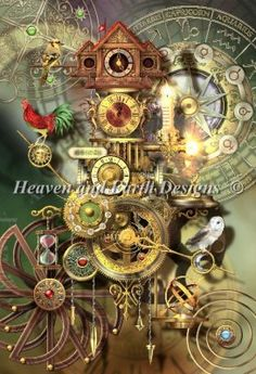 Its About Time cross stitch pattern from Heaven & Earth Designs