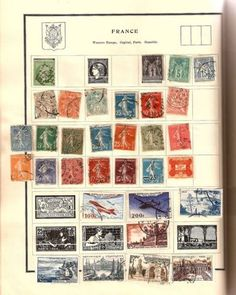 Our Stamp albums. We all collected stamps, and placed them them in the space for them in the stamp album. There were pages for each country , US and international countries in existence at the time.