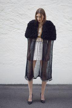 FTY 2015 Annina Thali Fur Coat, Kimono Top, Knitting, Jackets, Outfits, Tops, Women, Fashion, Textile Design