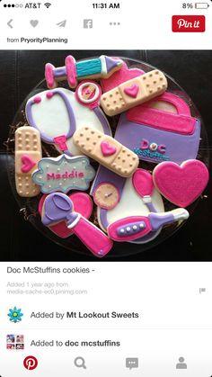 Doc McStuffins sugar cookies
