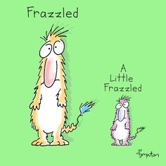 A little frazzled. Word Pictures, Cute Pictures, Penny And Sheldon, Sandra Boynton, Funny Cartoons, Funny People, Funny Cute, Laugh Out Loud, Make Me Smile
