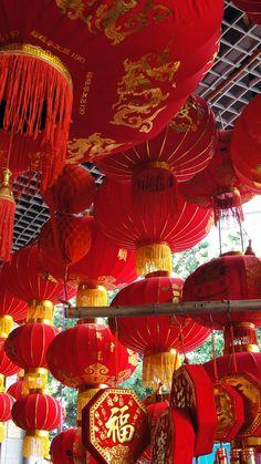 Chinese New Year lanterns - by TheMCCorner #red #lanterns #cny