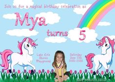Enchanted Unicorn Birthday Invite!!!