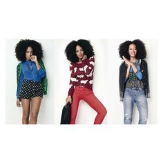 Solange makes debut as the face for Madewell fashion line theGrio via Polyvore