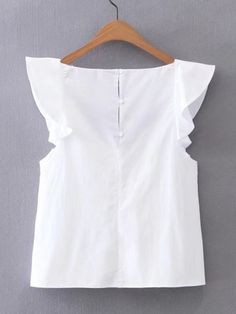 Shop V-Neckline Cap Sleeve Top online. SheIn offers V-Neckline Cap Sleeve Top & more to fit your fashionable needs. Fashion Clothes, Fashion Dresses, Pretty Outfits, Cute Outfits, Diy Kleidung, Cap Sleeve Top, Mode Chic, Blouse Styles, Casual Tops