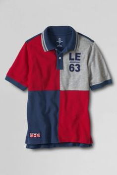 Boys' Heritage Mesh Polo Shirt