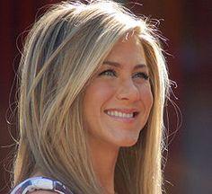 cor cabelo louro Jennifer Aniston