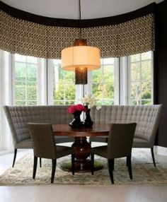 Dining Room: Curved Bench For Round Dining Table And Set Collection Pictures Kitchen Banquette Seating Benches Oak - Art Gallery Settee Dining, Banquette Dining, Dining Room Bench, Dining Table In Kitchen, Round Dining Table, Dining Room Design, Table Bench, Dining Rooms, Kitchen Nook