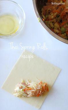 thai spring rolls - recipe - NoBiggie.net