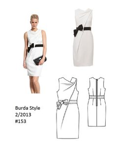 Burda Style Designer cowl dress 2/2013 #153