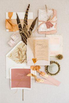 This Bohemian Wedding Theme is Killing It in 2019 - boho wedding invitation suite idea {Kir2Ben} {Pantone}