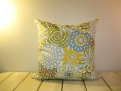 Button Blooms by Waverly 20x20 pillow cover by dewhickey on Etsy, $35.00
