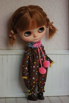 Winter Couture  Overalls  For Blythe Doll by CutieStorecom on Etsy