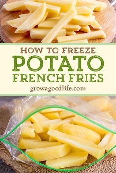 How to Freeze Potato French Fries