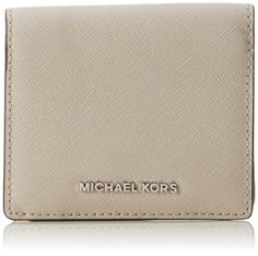 0153298d20 MICHAEL Michael Kors Jet Set Travel Saffiano Leather Card Holder Dusty Blue  at Amazon Women s Clothing store
