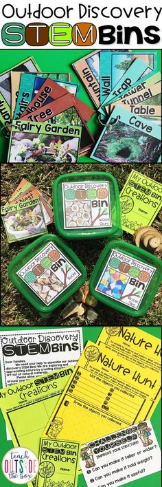 Bring Engineering Outside with Outdoor Discovery STEM Bins Outdoor Classrooms Nature Centers Outdoor Classroom, Science Classroom, Teaching Science, Teaching Tips, Science Inquiry, Physical Science, Science Education, Steam Activities, Science Activities