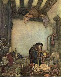 """The Alchemist"" Edmund Dulac"