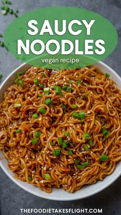Easy Saucy Ramen Noodles (Vegan Recipe) – Famous Last Words Tasty Vegetarian Recipes, Raw Vegan Recipes, Vegan Foods, Cooking Recipes, Recipes With Tofu, Veg Recipes, Cake Recipes, Healthy Recipes, Vegan Meal Prep