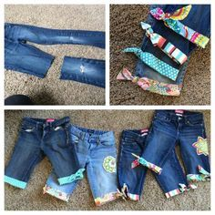 Worn out pants repurposed