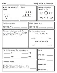 Printables Daily Math Practice Worksheets first us math worksheets and one 1 on pinterest