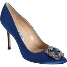 $289.50 Manolo Blahnik Something Blue Shoes. Cheapest price online at http://manoloblahnikonsale.com/