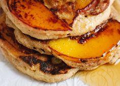 Caramelized peach pancakes recipe - cookieandkate.com