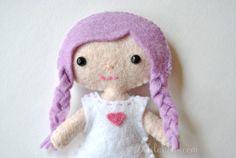 Mini Felt Doll Pattern  Lola The Cutie Pie Pocket by DelilahIris
