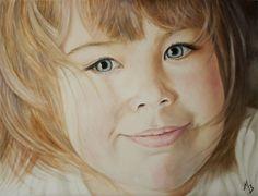 "Saatchi Online Artist Maria Bozina; Painting, ""Portrait Of a Girl"" #art"