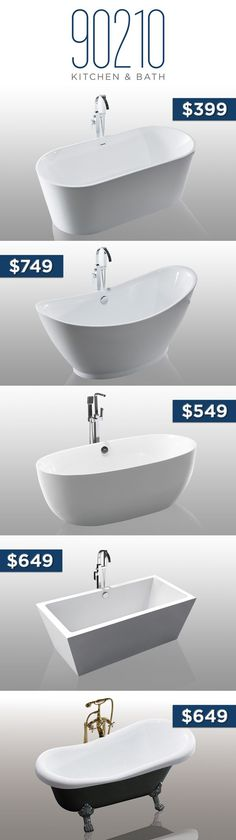 Bathtubs under $900 Boys Bathroom Decor, Modern Bathroom Decor, Beach Bathrooms, Rustic Bathrooms, Small Bathroom, Bathtubs, Small Toilet, Tubs, Small Shower Room