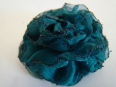 Gathered Raw Edge Flower from Chiffon