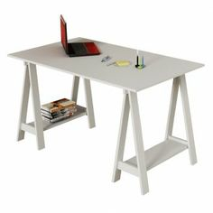 Mesa Escrivaninha Cavalete Branca