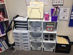 Organization - behind teacher's desk