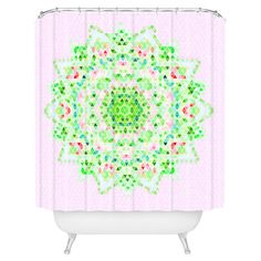 Bring an eye-catching pop of style to your master bath with this whimsical shower curtain, showcasing a leaf-inspired motif for natural appeal. ...