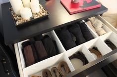 Divide bigger drawers into smaller compartments with SKUBB set of drawer organizers – keep your socks, belts, even jewelry organized and neat!