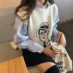49 Hipster Outfits To Copy Asap outfit fashion casualoutfit fashiontrends Source by outfits Sweater Vest Outfit, Vest Outfits, Hipster Outfits, Korean Outfits, Cool Outfits, Casual Outfits, Knit Vest, Sweater Fashion, Oversized Cardigan Outfit