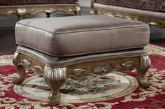European Classical Style Caesar Palace Footstool - MelodyHome.com