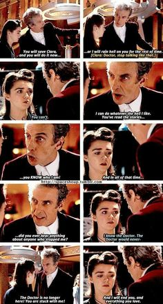 Each incarnation of the Doctor has his moments where you have to step back and be very glad this man is not your enemy