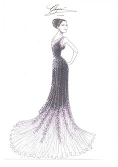 Lights, Cannes, Action: Red Carpet Style  Salma Hayek Pinault at the 65th Cannes Film Festival - Sketch by Gucci