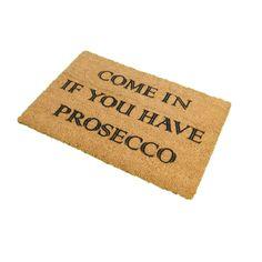 Artsy Prosecco Doormat   Prezola - The Wedding Gift List