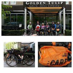 """Die Biker von der Aktion Candy B. Graveller kamen mit ihren """"Rosinenbombern"""" in Form von Fahrrädern, um die Care-Pakete für @die_arche bei uns abzugeben. Dies wird einige Kinderaugen sicher wieder zum Strahlen bringen 😊. #charity #cbg17 #candybgraveller #candy #wohltätigkeit #care #carepackage #carepaket #rosinenbomber #gunnarfehlau #luftbrücke #biker #radfahrer #arche #diearche #geschenkefürkinder #kinder #guterzweck #fürgutenzweck #goldentulipberlin"""