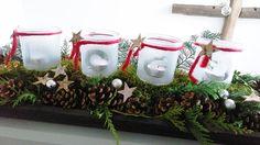 #Advent #gesteck #zweige #kiefernzapfen #logobuchversand #einmachglas #Adventskranz