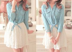 Cute and girly outfit! <3