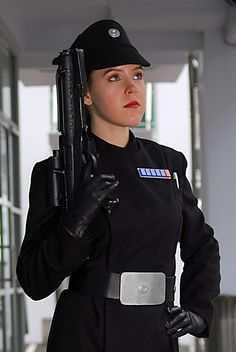 Imperial officer on her duty.