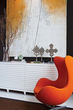 Tony Cappoli Interiors - Orange Chair