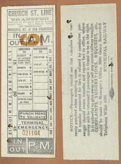 Transfer from San Francisco Municipal Railway (1930-40)